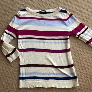 Lands end three quarter sleeve top